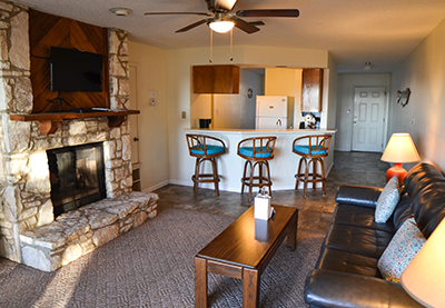 Lake Pointe RV Resort Condos Living With Fireplace